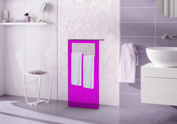 a modern bathroom consolle. Dimensions and colours are customizable.