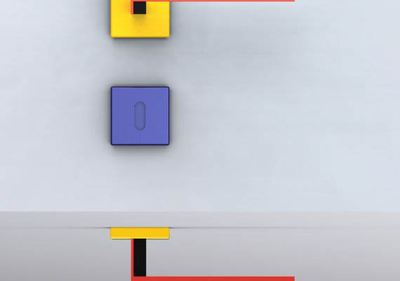 door handle. Ispirated by the famous dutch architect Gerrit Rietveld.